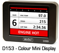 MOTEC D153 Colour Mini Display